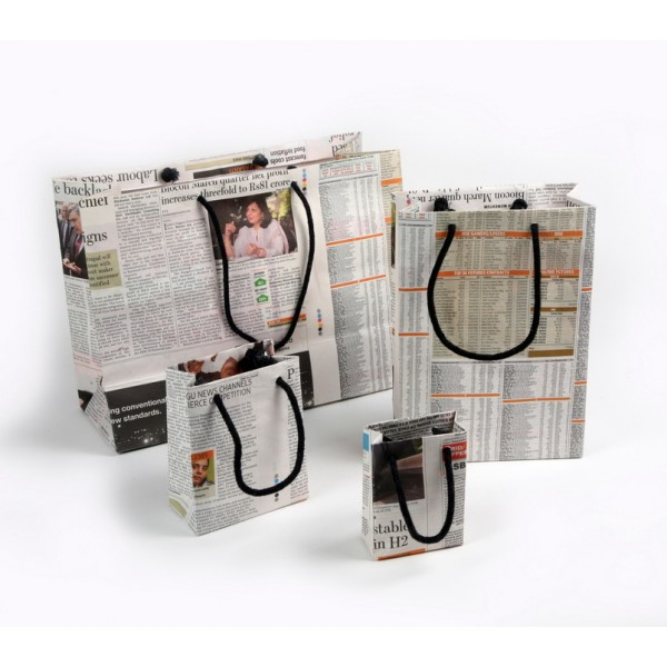 Up Cycled Newspaper Bags